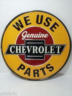 Genuine CHEVROLET Parts & Service Vintage Style Tin Sign