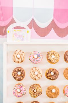 Doughnuts from a Candy Heaven Birthday Party on Kara's Party Ideas | KarasPartyIdeas.com (26) #candylandparty #candyshoppe #candyshoppeparty #kidspartyideas #sweetshop #sweetshoppeparty #karaspartyideas