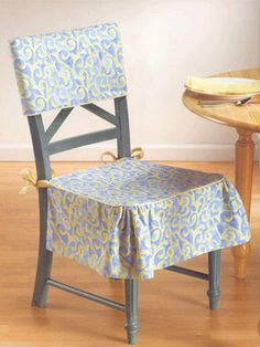 Dining Room Chair Skirts no sew chair back slipcover for dining room chairs | diy home