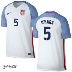 16/17 Kelley O'Hara Youth Home Jersey #5 USA Soccer