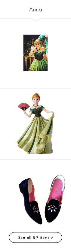 """""""Anna"""" by imnotariot ❤ liked on Polyvore featuring disney, princess, frozen, anna, home, home decor, disney figure, princess figurines, disney home decor and disney figurines"""