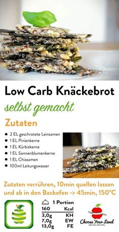 Lowest Carb Bread Recipe, Low Carb Bread, Snacks For Work, Easy Snacks, Diabetic Snacks, Keto Snacks, Low Carb Recipes, Vegan Recipes, Paleo Vegan