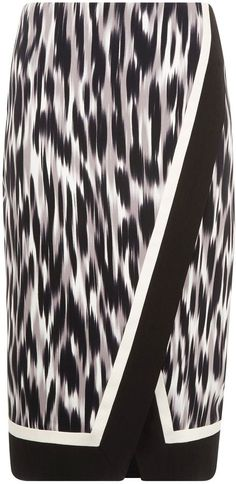 dc4d750267 House of Fraser Planet Hazy animal print wrap skirt on shopstyle.com