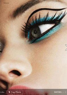 sixties eye makeup // Makeup by Einat Dan