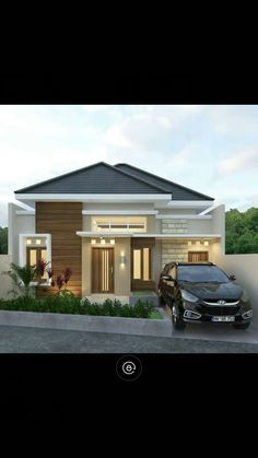 Modern Bungalow House, Bungalow House Plans, Dream House Plans, Minimalist House Design, Minimalist Home, Modern House Design, House Outer Design, One Storey House, Model House Plan
