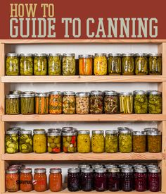"How to Guide to Canning - Types of canning methods to properly store ""the good stuff"""