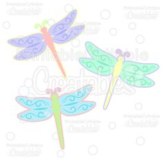 Spring Flourish Dragonfly SVG Cut File Set - Includes Limited Commercial Use License! Easter SVG Files, SVG, Cricut Explore, Cricut, Silhouette, Silhouette Cameo, Silhouette Portrait, SVG cuts, Eclips, Cutting Files, Make the Cut, Sure Cuts a Lot, SCaL, and other electronic craft cutting machines for scrapbooking, card making, paper crafting, and more!