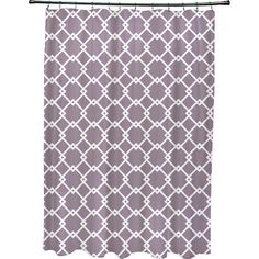 Refresh your master bath or guest suite with this stylish shower curtain, showcasing a trellis print.Product: Shower curtain...