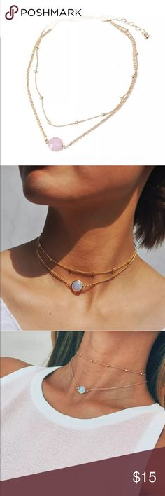 New✨ 2 Layered Pink Crystal Stone Choker   😍✨ ✨ Fashion Jewelry ✨Alloy, Gold Plated   🔸Brand New✨ 🔸PRICE IS FIRM- already listed at lowest price  🔸If you want to save please look into bundling  🔸In Stock 🔸No Trades 🔸Will ship within 24 hours Monday-Friday  🚫Please -NO- Offers on items priced $10 and under AND ON SALE ITEMS‼️  🚫Serious Inquiries Only❣️  🔹Bundle one or more items from my boutique to only pay one shipping fee✨ Jewelry Necklaces