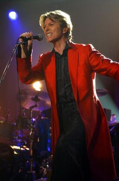 David Bowie in Concert at Roseland in NYC, 2002.