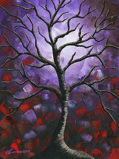 Original Abstract Acrylic Painting Tree by NYoriginalpaintings, $100.00