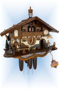 Forest Falls, Mechanical Clock, Chalet Style, Little Library, Fun Fair, Schneider, Black Forest, Brewery, Cuckoo Clocks