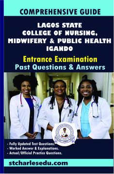 Download Entrance Examination Past Questions with Answers for Lagos State College of Nursing, Igando State School, State College, School S, Registered Nurse Rn, Rn Nurse, Question Paper, Question And Answer, Past Questions, This Or That Questions