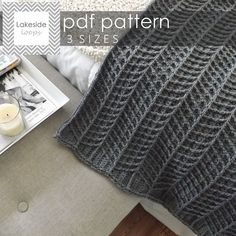 Modern, thick, and cozy . . this chevron crochet blanket pattern includes 3 sizes to make the perfect stroller blanket, crib blanket, or afghan.