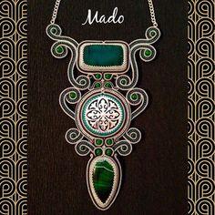 Boho Jewelry, Beaded Jewelry, Handmade Jewelry, Soutache Necklace, Shibori, Beaded Embroidery, Beading, Jewelry Making, Inspiration