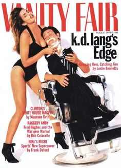 Vanity Fair, August 1993 — k.d. lang & Cindy Crawford... I remember the controversy this magazine cover generated at the time
