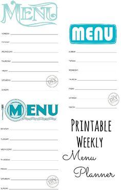 For the super-organized Mommy: Free Printable Weekly Menu Planners! Bingo Card Template, Santa Letter Template, Menu Template Word, Restaurant Menu Template, Business Card Template Word, Printable Menu, Templates Printable Free, Free Printables, Weekly Menu Planners