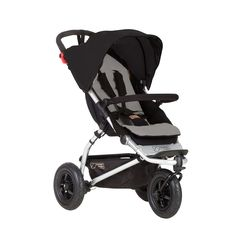 Phil&Teds Mountain Buggy Swift - Black/Silver | Babies R Us Australia