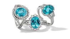 Rosendorff Aqua Collection Aquamarine and Diamond Rings