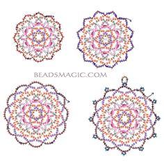 Free pattern for beautiful beaded pendant Fair        U need :  toho seed beads 11/0 - 5 colours  toho seed beads 15/0