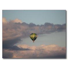 Heißluftballon mit BAYER-Kreuz über Leverkusen Postkarten