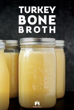 This is a savory turkey bone broth you can make from the carcass of a roasted turkey. Make it in advance and store it to use in meals, soups, and stews.