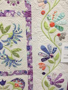 Sew Fun 2 Quilt: Aunt Millie's Garden pieced by Shalyse S. Larsen quilted by…