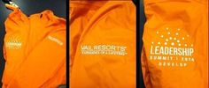 Jackets we embroidered for @VailResorts for their Leadership Summit last week! http://www.embroidme-westminsterco.com/