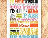 Inspirational Quote Art Print -8X10 - No. Q0093 - Don't forget there is someone up above