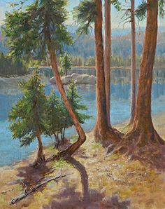 Through the Pines by Tatyana Fogarty Oil ~ 20 x 16