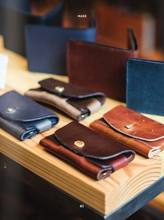 leather accessories.
