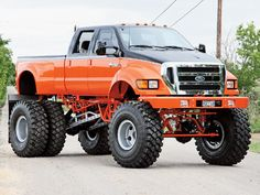 Lifted Ford Super Duty dually. ---might be able to afford this next year...if I had started saving the day I was born.
