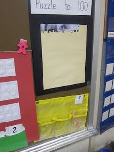 AWESOME IDEA!!!! Use a 100 piece puzzle to count up to the 100th day of school.  Put it together first and number the pieces on the back  and glue onto a poster board.