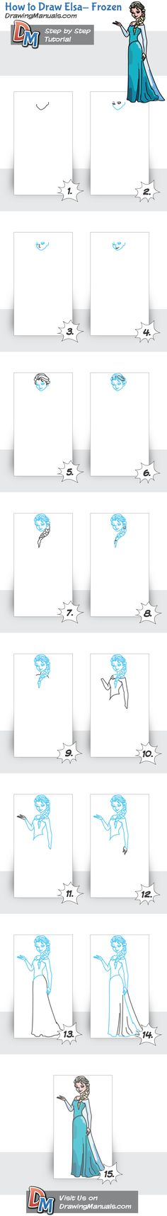 How+to+Draw+Elsa+from+Frozen
