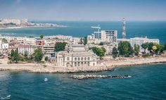 """Constanta is an old port city founded in 657 B.C on the Black Sea coast, in Dobrogea region. Its historic ancient name was """"Tomis"""", name given by Greek merchant colony established here. Constanta Romania, Bucharest Romania, Danube Delta, Ancient Names, Local Museums, Old Port, Black Sea, Model Ships, Natural Wonders"""