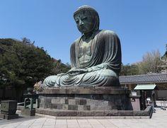 The Daibutsu (Big Buddha) of Kotoku-in in Kamakura, Japan.