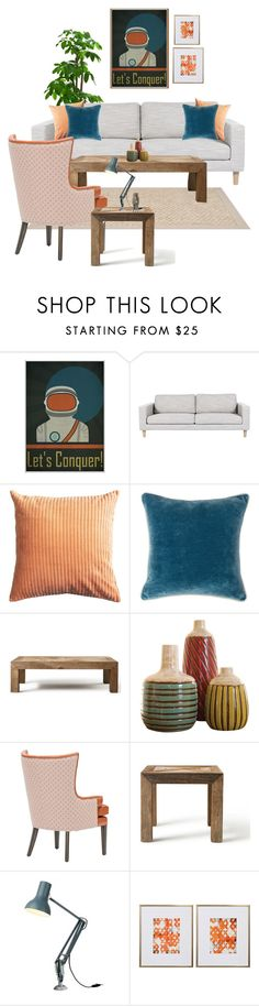Let's Conquer! by she-kills-monsters on Polyvore featuring interior, interiors, interior design, home, home decor, interior decorating, Flamant, Anglepoise, Villa Home Collection and Uttermost