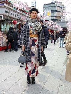 Coordination using CHIYO's (Kyoto Kimono rental wargo) Japanese Street Fashion, Korean Fashion, Orientation Outfit, Remake Clothes, Modern Kimono, Vintage Kimono, Japanese Kimono, Japanese Style, Yukata