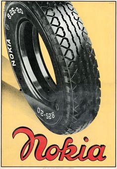 Advertisement for Nokia Tyres, 1936
