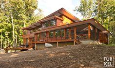 Wallkill River House with Lindal Cedar Homes - modern - Exterior - New York - turkeldesign
