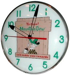 vintage Mountain Dew clock