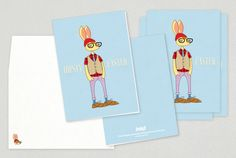 Abominable Snowman Holiday Greeting Card Template  Spread