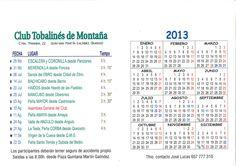 Salidas programadas del Club Tobalinés de Montaña (Quintana Martín Galíndez ) 2013