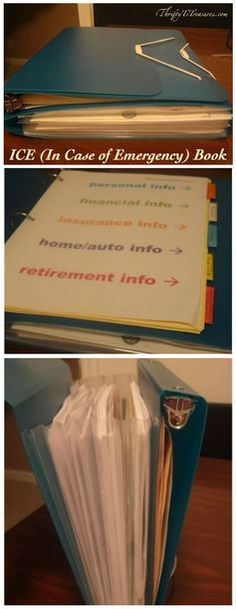 Do you have an ICE (In Case of Emergency) book for your family?