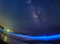 KAGAYAさんはTwitterを使っています: 「光る海、流星わたる天の川。 波頭が青く光るのは夜光虫の光。その幻想的な海の上をみずがめ座エータ流星群の流れ星が。 わたし自身初めて見る光景にドキドキしながらの撮影でした。 (今朝未明、神奈川県にて撮影) https://t.co/ZbKRwqzkyZ」