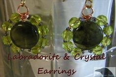Free Round Sparkle Earrings Tutorial