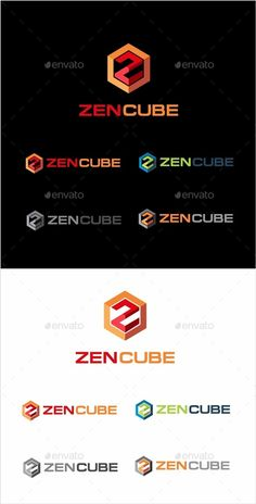 Zen Cube Logo — Vector EPS #shape #3d • Available here → https://graphicriver.net/item/zen-cube-logo/10017721?ref=pxcr