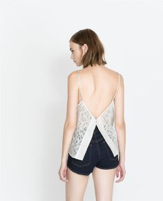 ZARA - TRF - STRAPPY TOP WITH LACE BACK