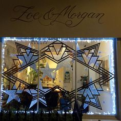 We were busy last night creating our Zoe and Morgan London Christmas window it's not yet complete but it's close #christmas #zoeandmorgan #stars