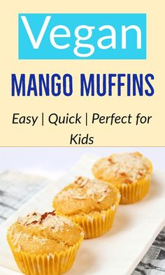 These are perfect for after school snack, breakfast as well as school lunch boxes. Surprise your kids with these egg free and dairy free mango muffins today! Mango Muffins, Eggless Banana Muffins, Chocolate Muffins, Egg Free Muffins, Baby Muffins, After School Snacks, School Lunch, Muffin Recipes, Dairy Free